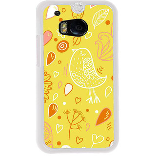 ifasho Animated Pattern colrful design cartoon flower with leaves Back Case Cover for HTC One M8
