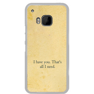 ifasho I have you thats all I need Back Case Cover for HTC One M9