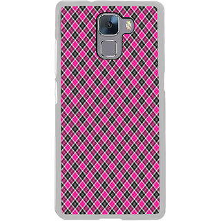 ifasho Colour Full Square Pattern Back Case Cover for Honor 7