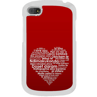 ifasho Love Quotes I love you Back Case Cover for BLACKBERRY Q10