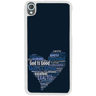 ifasho Quotes on God inside a heart Back Case Cover for HTC Desire 820