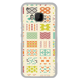 ifasho Animated Pattern colrful tribal design Back Case Cover for HTC One M9