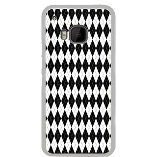 ifasho Animated Pattern of Chevron Arrows royal style Back Case Cover for HTC One M9