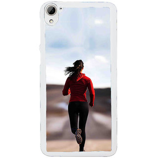 ifasho Girl Jugging Back Case Cover for HTC Desire 826