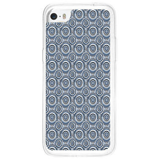 ifasho Animated Pattern design black and white flower in royal style Back Case Cover for Apple Iphone 5C
