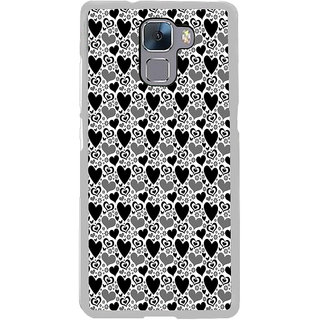 ifasho Modern Art Design Pattern with Lot Of small heart Back Case Cover for Honor 7