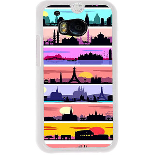 ifasho Modern Art Design Pattern tower temple building Back Case Cover for HTC One M8