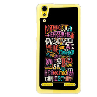 ifasho Love Quotes Back Case Cover for LENOVO A6000