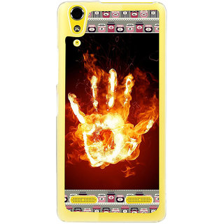 ifasho Modern Art Design  dont touch my phone with palm Back Case Cover for LENOVO A6000 PLUS