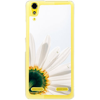 ifasho Flower Design white flower in white background Back Case Cover for LENOVO A6000