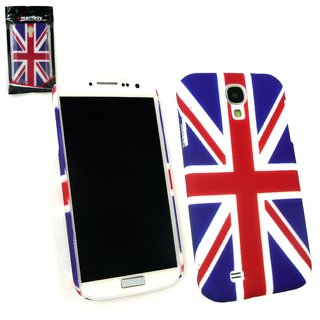 Emartbuy Phone Samsung Galaxy S4 Case Clip On Red/Blue Union Jack