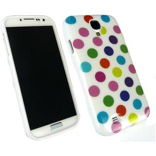 Emartbuy Phone Samsung Galaxy S4 Case Gel Multi Polka
