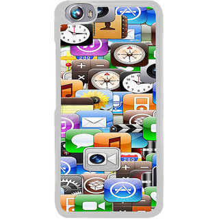 ifasho Modern  animated Design Pattern mobiles camera Back Case Cover for Micromax Canvas Fire4 A107
