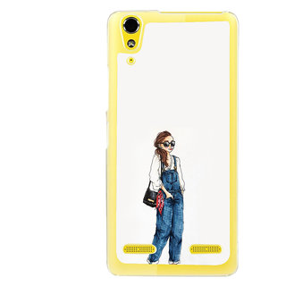 ifasho Girl in jeans Back Case Cover for LENOVO A6000