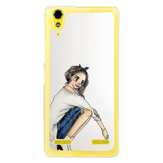 ifasho Sitting Girl Back Case Cover for LENOVO A6000