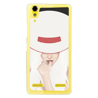 ifasho Gorgeous Winking Girl in white hat Back Case Cover for LENOVO A6000