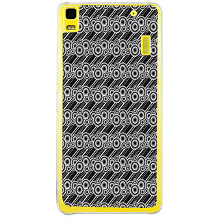 ifasho Animated Pattern  littel and Big Circle black and white with lines Back Case Cover for LENOVO A7000