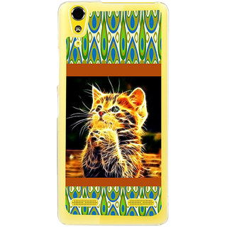 ifasho Cat with big eyes animated designed Back Case Cover for LENOVO A6000 PLUS