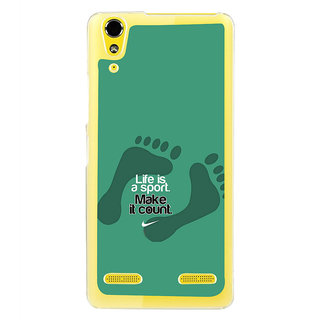 ifasho life Quotes sports quotes Back Case Cover for LENOVO A6000 PLUS