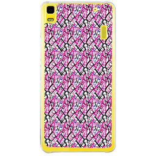 ifasho Modern Art Design Pattern with Lot Of alphabet Back Case Cover for LENOVO A7000