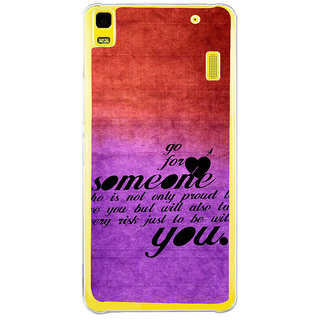 ifasho Love Quote Back Case Cover for LENOVO A7000