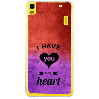 ifasho I have you in my heart Back Case Cover for LENOVO A7000