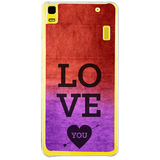 ifasho love you quotes Back Case Cover for LENOVO A7000