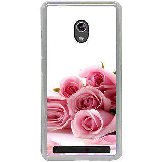 ifasho Red Rose bunch Back Case Cover for Asus Zenfone 5