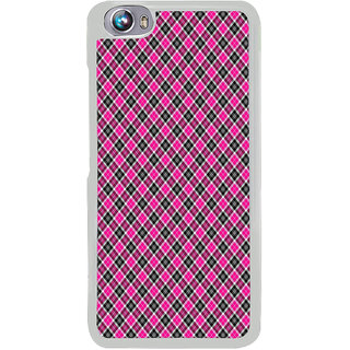 ifasho Colour Full Square Pattern Back Case Cover for Micromax Canvas Fire4 A107