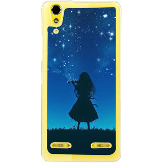 ifasho Girl playing violin Back Case Cover for LENOVO A6000