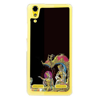 ifasho krishna driving Chariot of Arjun Back Case Cover for LENOVO A6000