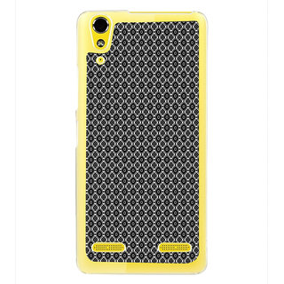 ifasho Animated Pattern design black and white flower in royal style Back Case Cover for LENOVO A6000