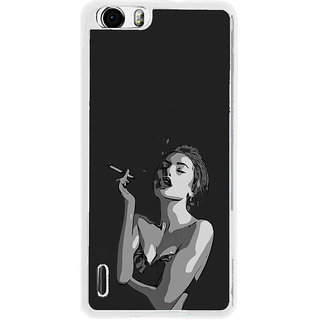 ifasho Smoking girl Back Case Cover for Huawei Honor 6