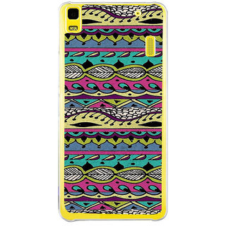 ifasho Modern Art Design Pattern lot of Leaf Back Case Cover for Lenovo K3 Note