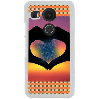 ifasho Love life heart shape made by hand  Back Case Cover for LG Google Nexus 5X