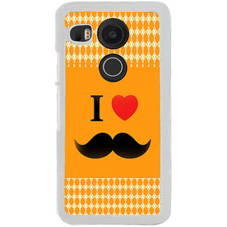 ifasho I love Moustache Back Case Cover for LG Google Nexus 5X