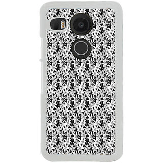 ifasho Animated Pattern black and white jasmin flower Back Case Cover for LG Google Nexus 5X