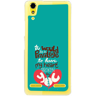 ifasho Heart Break Girl Back Case Cover for LENOVO A6000 PLUS