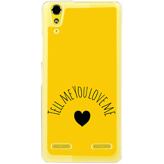 ifasho Love  Quotes  Back Case Cover for LENOVO A6000 PLUS