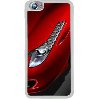 ifasho Red Royal colour Car Back Case Cover for Micromax Canvas Fire4 A107