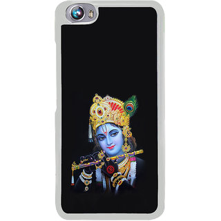 ifasho Lord Krishna with Flute Back Case Cover for Micromax Canvas Fire4 A107