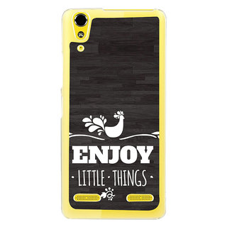 ifasho enjoy little things Back Case Cover for LENOVO A6000