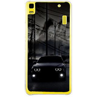 ifasho Black Car Back Case Cover for Lenovo K3 Note