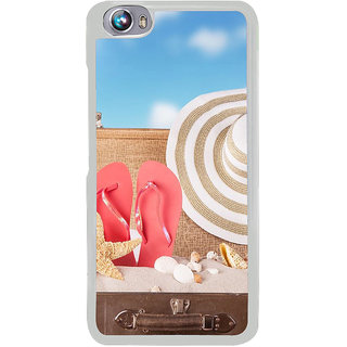 ifasho hat and chappal at a boat in Beach  Back Case Cover for Micromax Canvas Fire4 A107