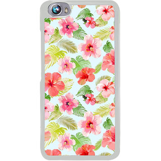 ifasho Animated Pattern mander flower with leaves Back Case Cover for Micromax Canvas Fire4 A107