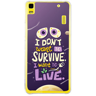 ifasho life Quotes Back Case Cover for Lenovo K3 Note