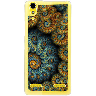 ifasho Animated Pattern design colorful flower in royal style Back Case Cover for LENOVO A6000