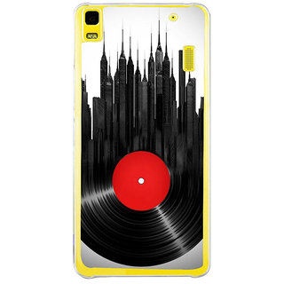 ifasho gramophone recod animated design as tower Back Case Cover for LENOVO A7000