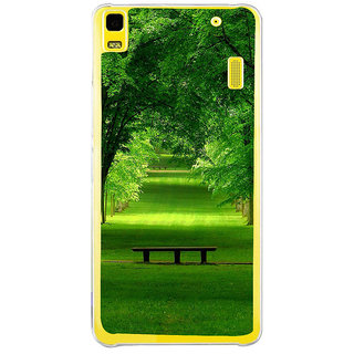 ifasho Green grass road with trees on the two side Back Case Cover for LENOVO A7000