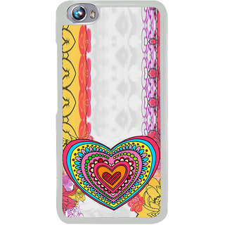 ifasho Modern Art Design Pattern with Heart and design colorful Back Case Cover for Micromax Canvas Fire4 A107